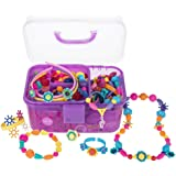 POMIKU Pop Beads Jewelry Making Kit for Age 3, 4, 5, 6, 7 Year Old Girls Gift, Arts & Crafts Toy for Kids DIY Bracelets, Neck
