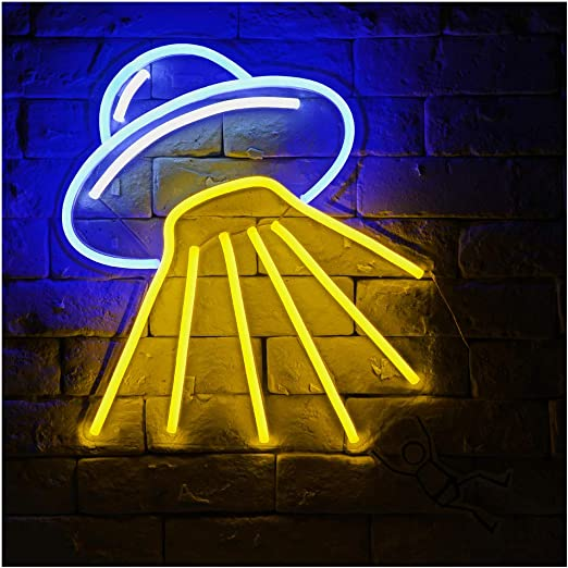 Alien Spaceship B Led Neon Sign Lights Night Light Amazon Com
