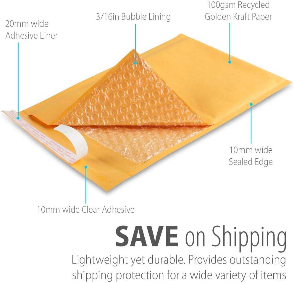 5 PCS 5//10//20//50 sacs denveloppe /à bulles autocollantes en papier kraft de haute qualit/é S Size