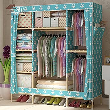 1.5S o alquilar una habitación en negrita de refuerzo de madera armario ropero tela Oxford fácil admitir el armario , Ancho 150cm* profundo 45cm* 170cm de ...