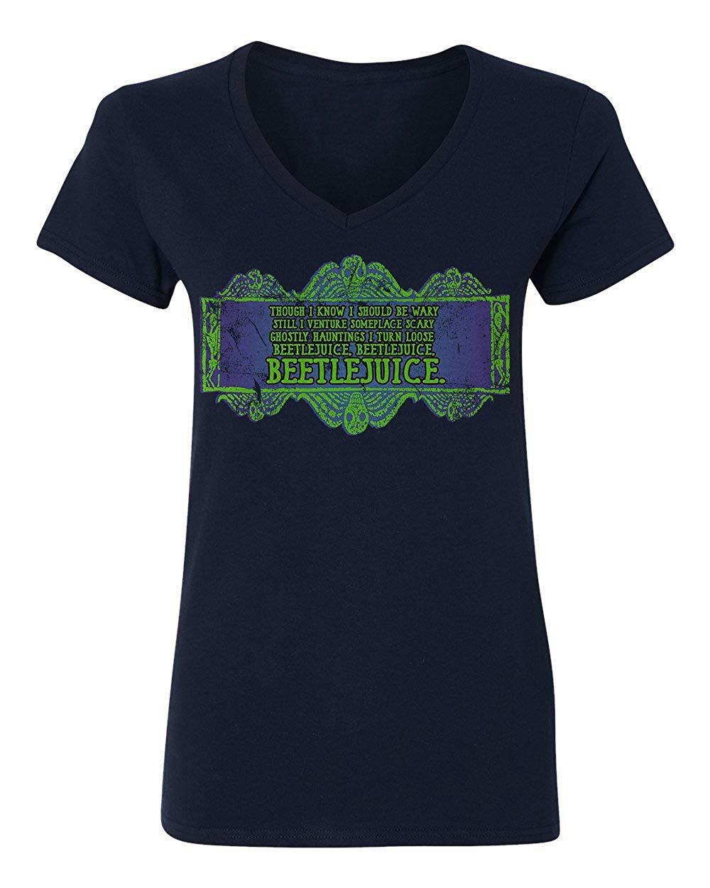 Shirt Horror Movie Novelty Tee Beetlejuice Vneck Tshirt