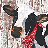 Paperproducts Design PPD 1332401 Henrietta Lunch Paper Napkins, 6.5'' x 6.5'', Black/White/Red