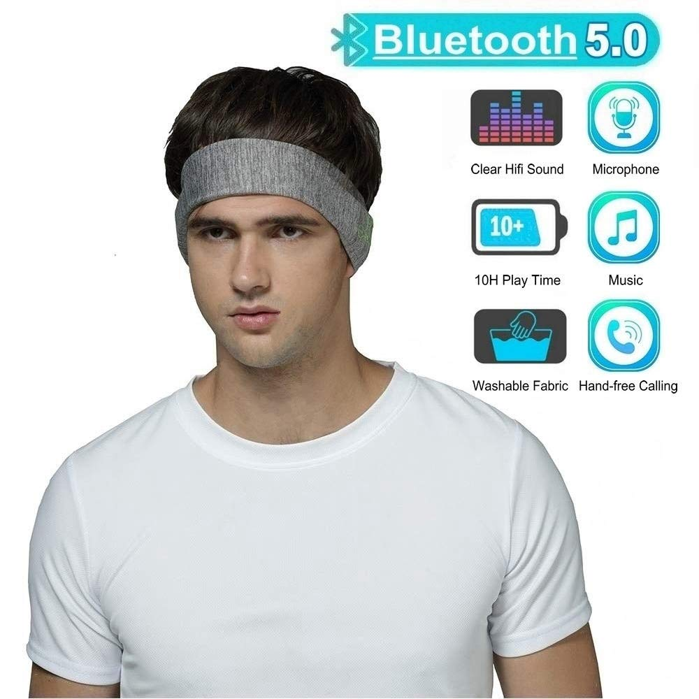 ZD-SPORT Bluetooth Headband Sleep Headphones, Outdoor Wireless Music Sport Headbands Headsets, Long Time Play for Workout, Running, Yoga Sleeping Travel Sport