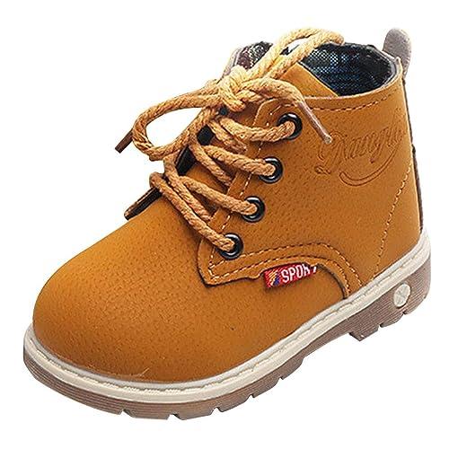 Botas de Niño, Zapatillas de Deporte Otoño Invierno 1-6 años Niño Niña Bebe Zapatos Martín Botas de Botines Tamaño EU 21-30: Amazon.es: Zapatos y ...