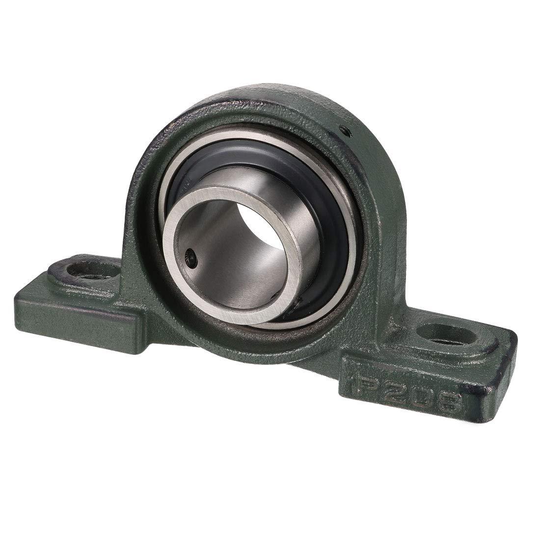 Sourcingmap - Cojinete para cojín, hierro fundido/acero cromado, tornillo de bloqueo, UCP208