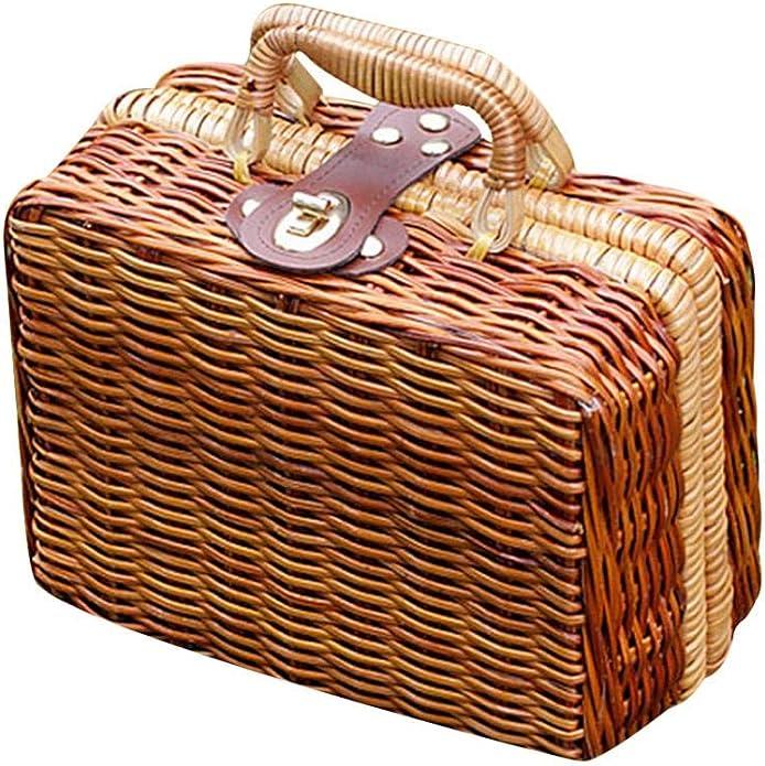Vintage Handbags, Purses, Bags *New* Puedo Womens Vintage Rattan Handbag Handmade Tote Weave Purse Straw Bag Beach Bag Summer Straw Shoulder Crossbody Bag $22.99 AT vintagedancer.com
