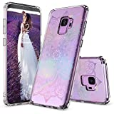 Galaxy S9 Case, Galaxy S9 Clear Case, MOSNOVO Gradient Rainbow Henna Mandala Printed Clear Design Transparent Plastic Case with TPU Bumper Protective Case Cover for Samsung Galaxy S9 (2018)