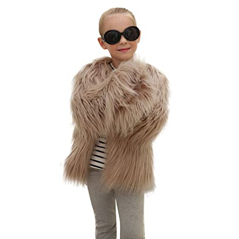 Abrigos y chaquetas para niño Chaquetas niño piel Niños Niñas Otoño Invierno Faux Abrigo Pelliccia Chaqueta