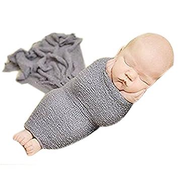 Mädchen Neugeborene Foto Tücher Stretch Knit Wrap Babydecke Fotografie Props
