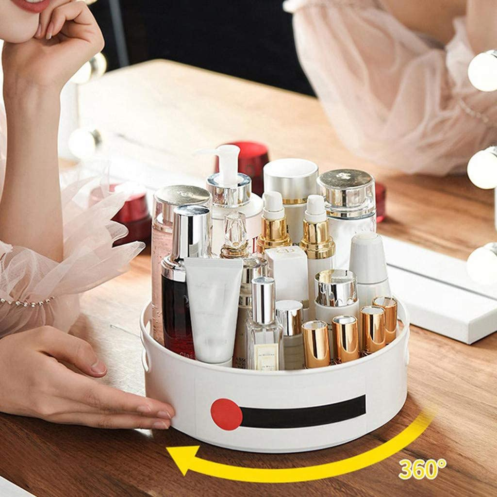 Lazy Susan Cabinet Organizer Lazy Susan Turntable for Kitchen Rotating Spice Rack Organizer and Storage Kitchen Turntable Organizer Set Non-Skid Pad with Bin and Handles 2 Pack Dual Size 9 /& 12 Inch