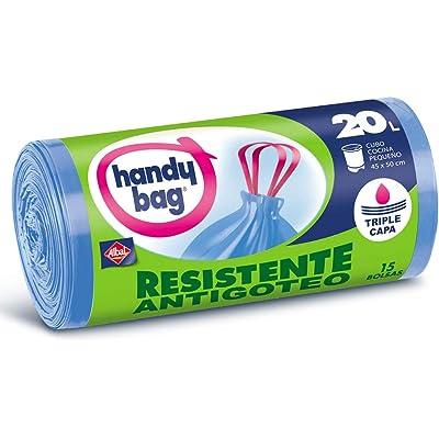 Handy Bag Bolsas de Basura 20L, Extra Resistentes, No Gotean, 15 Bolsas