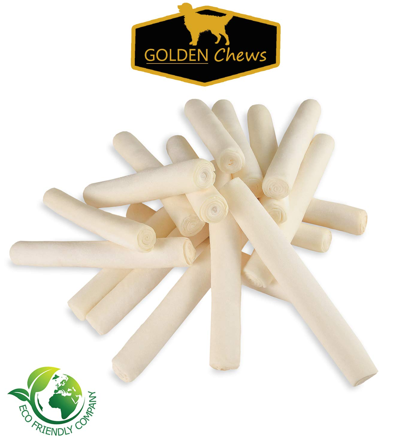 Golden Chews Retriever roll 7-8 Extra Thick by Great Value Treat (20 Pack)