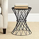 Minimalistic Coffee Table, Iron Material, No Assembly, Round Shape, Matte Black Color, Lightweight, Ideal For Indoor Spaces, Stylish And Modern Design, Sturdy And Durable Construction & E-Book