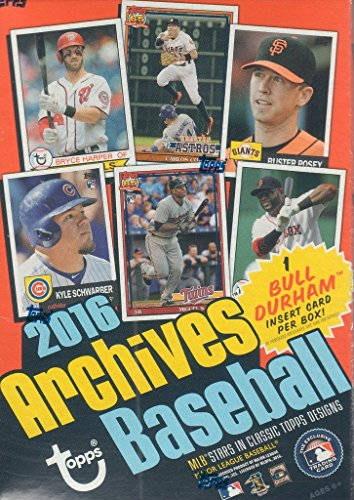 2016 Topps Archives MLB Baseball Series Unopened Blaster Box with Bull Durham Card Plus Possible Autographs Autographed 1969 Team Mlb Baseball