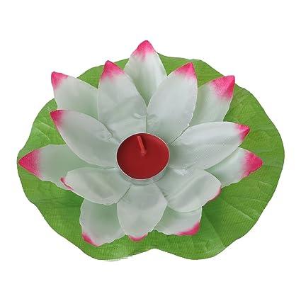 Amazon liyudl magical amazing blossom lotus flower light party liyudl magical amazing blossom lotus flower light party festival romantic lamp candle white mightylinksfo