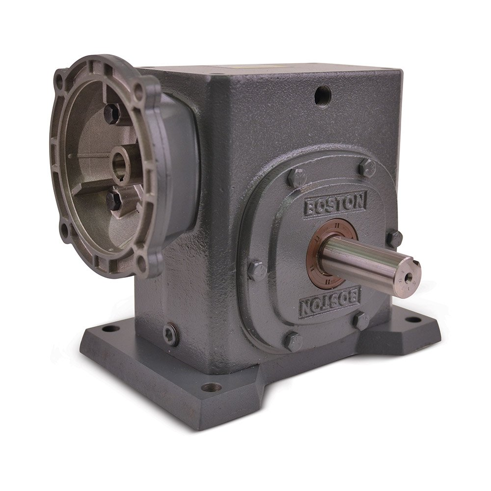 3.25 Center Distance NEMA 140TC Flange Input Boston Gear F732B25KB7J Right Angle Gearbox 25:1 Ratio 3.85 HP and 2891 in-lbs Output Torque at 1750 RPM Left Output