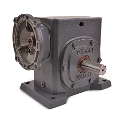 2.38 Center Distance 20:1 Ratio 1.95 HP and 1233 in-lbs Output Torque at 1750 RPM 2.38 Center Distance F724-20K-B7-J Boston Gear F724 Series Right Angle Gearbox Boston Gear F72420KB7J Right Angle Gearbox Left Output NEMA 140TC Flange Input