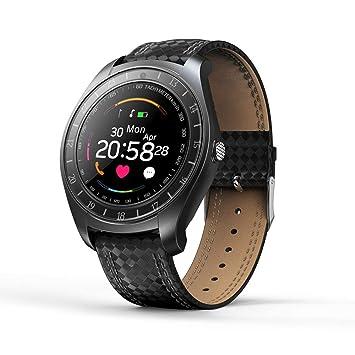 elecfan Fitness Pulsera con Monitor de Ritmo cardíaco, GPS Color Monitor Relojes Inteligentes Podómetro Reloj con cámara Bluetooth Tarjeta SIM Llamada SMS ...