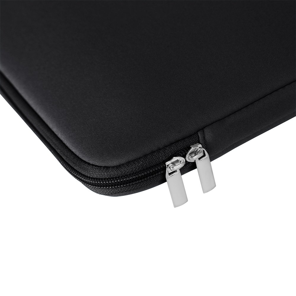 RAINYEAR Inch Laptop Sleeve Case Protective Soft Padded Zipper Cover Carrying Computer Bag with Front Pocket Accessories Pouch Compatible with Notebook Chromebook Tablet Ultrabook Black