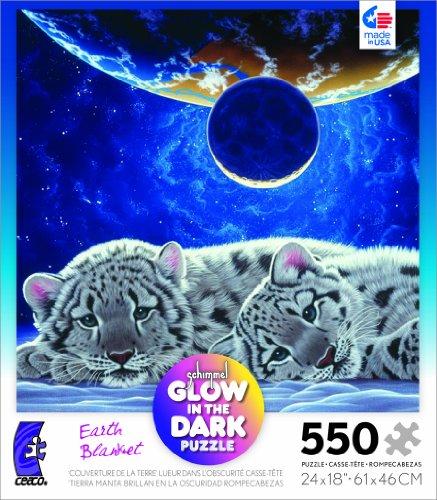 Schimmel Glow in The Dark Earth Blanket 550 Piece Jigsaw Puzzle