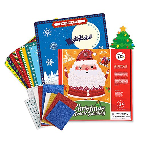 Painting Christmas Crafts (Jar Melo Mosaics Stickers; Christmas Mosaic Painting; Xmas Children's Arts Crafts; Xmas Gift; 8 Sheets; Sticker-by-number)