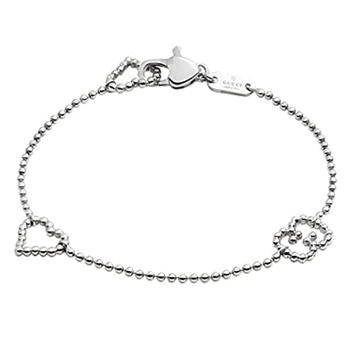 f52301bf8 Image Unavailable. Image not available for. Color: Gucci Women's Boule  Bracelet w/Open Heart Motif Silver ...