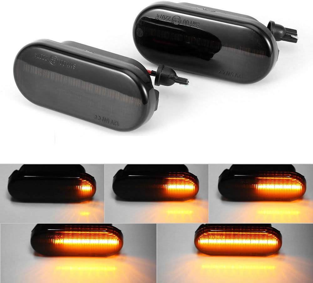 Dynamic LED GUANGGU 2 X LED Indicators Blinker 18 SMD Amber Blinker Sequential with Non-polarity CAN-bus Error Free Smoke For V-W Bora Golf4 Passat 3BG Polo 6N2 9N Sharan VentoT5 S-EAT F-ord S-koda