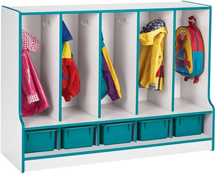 Amazon Com 1 Tier 5 Section Toddler Coat Locker Color Black Trays With Furniture Decor