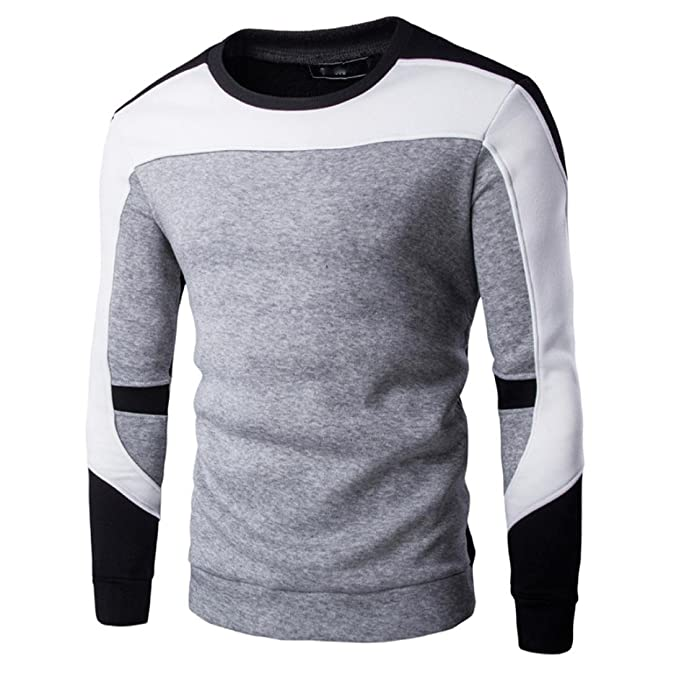 LUVERSCO Ropa De Deporte Hombres Manga Larga Sudadera Chaqueta Capa Sudaderas Suave Calentar Tops Desgastar Camiseta