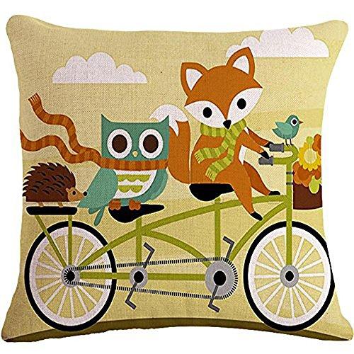 Painting Riding animals Cushion Decorative