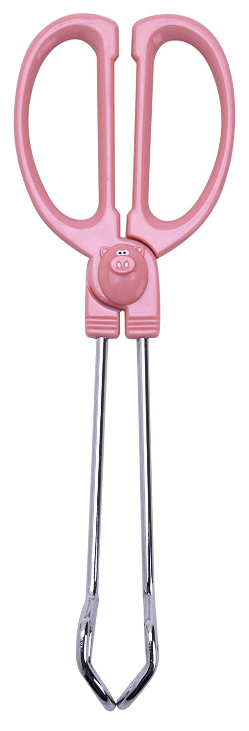Joie Serving Tongs, 10-Inch, Piggy Wiggy HIC Brands that Cook 78069