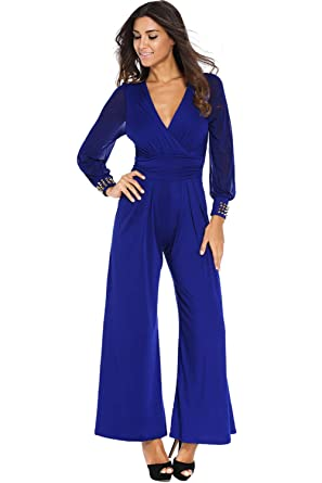 acheter Nouveaux produits 100% de haute qualité Combinaison Pantalon Large Femme Mode Boho Chic Ample ...