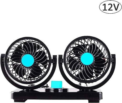 12V Ventilador Automóvil, 360 Grados Giratorio Eléctrico Ventilador ...