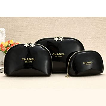 0774c23525a1 CHANEL シャネル ノベルティー商品 ビューティーバッグ エナメル雪花 メイクポーチ 化粧品バッグ かばん エナメル ポーチ (