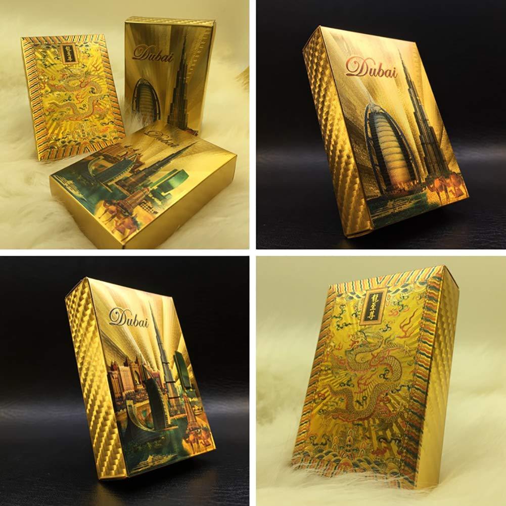 Xiton 1PACK de Lujo 24K Oro Color Hoja de póquer Jugando a ...