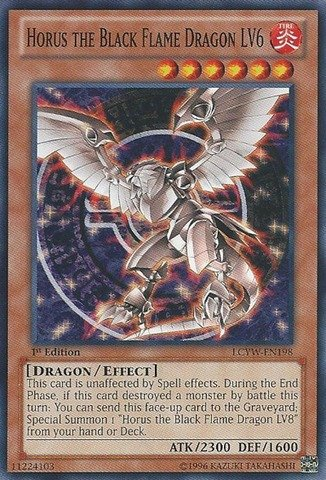 Yu-Gi-Oh! - Horus the Black Flame Dragon LV6 (LCYW-EN198) - Legendary Collection 3: Yugi's World - Unlimited Edition - Common - Black Flame Dragon