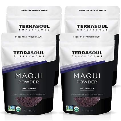 Amazon Com Terrasoul Superfoods Organic Maqui Berry Powder 1 Lb