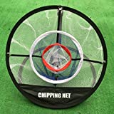 Portable 20'' Golf Pitching Practice Net,Collapsible Golf Chipping Net,Training Hitting Aid Indoor Outdoor Bag, Pefect for Golf Training