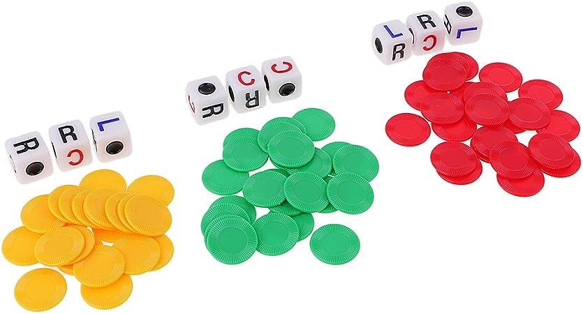 MagiDeal 23 Piezas de Casino Chip Conjunto con 3 Dados para Divertirse Juego de Mesa