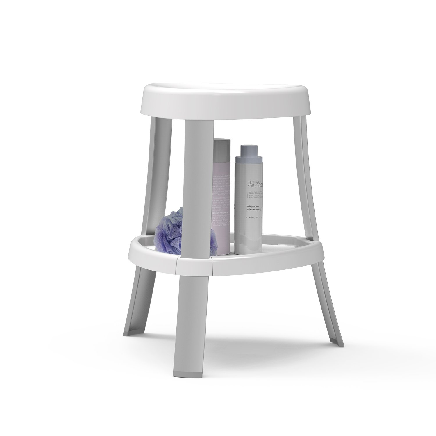 White Better Living Products 70061 Spa Shower Seat with Shelf