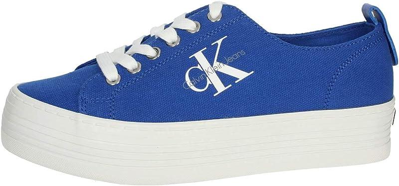 Calvin Klein Jeans Zolah Canvas Sneaker Damen Blau