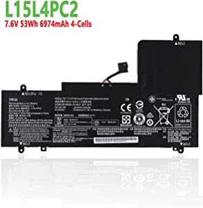 efohana L15L4PC2 Laptop Battery Replacement for Lenovo Ideapad Yoga 710 710-14IKB 710-14ISK 710-15IKB 710-15ISK Series Notebook L15M4PC2 7.6V 53Wh 6974mAh 4-Cells