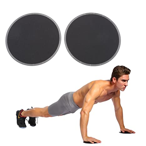 Gym Exercise Sliding Gliding Discs Fitness Core Sliders Sport Full Body Workout