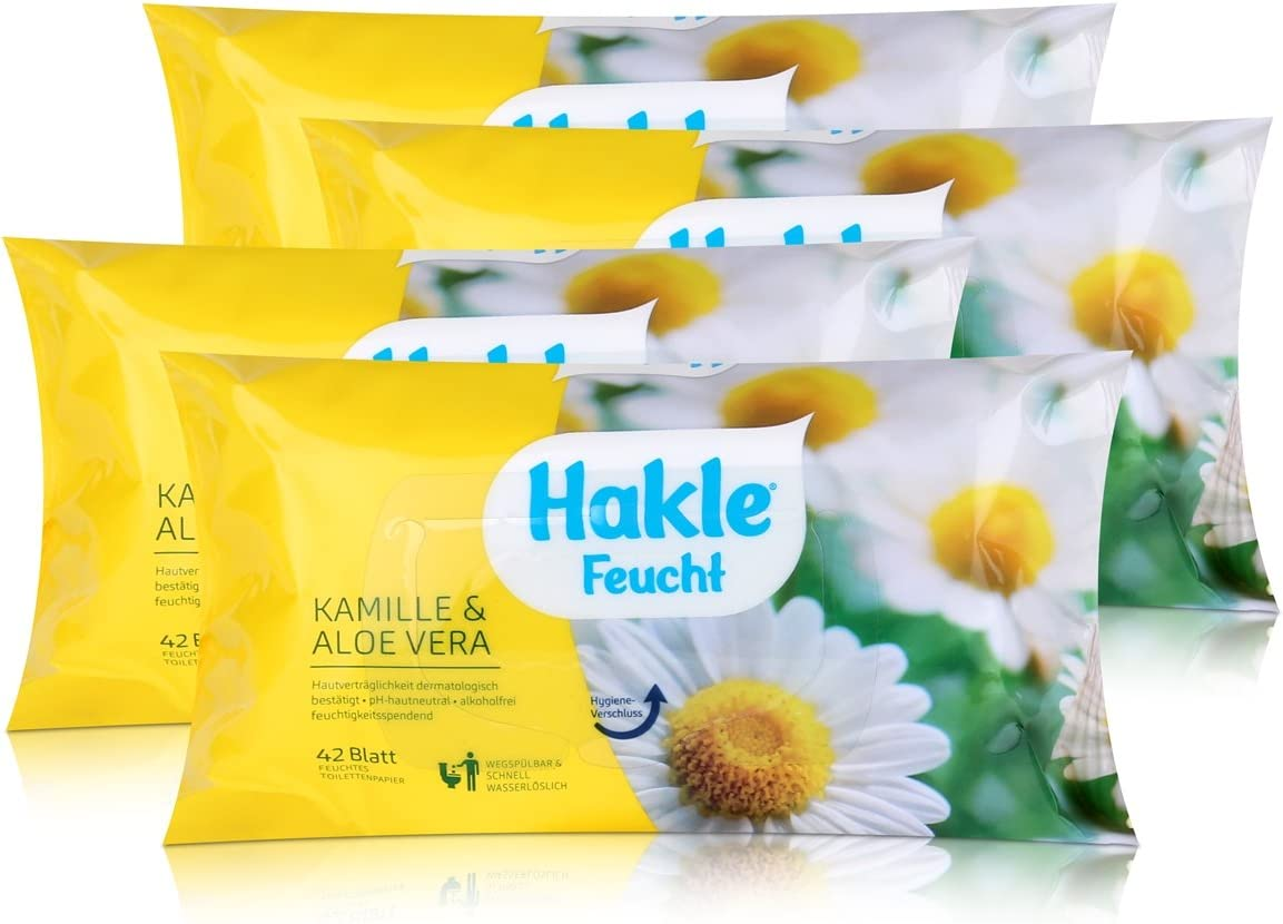 hakle húmedas Manzanilla & Aloe Vera 42 hojas papel higiénico ...