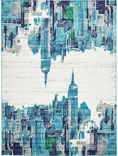 Abstract Modern City Pattern Area Rug