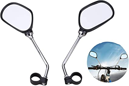 1PAIR BLACK BICYCLE MOBILITY SCOOTER MOUNTAIN BIKE HANDLEBAR REAR VIEW MIRROR