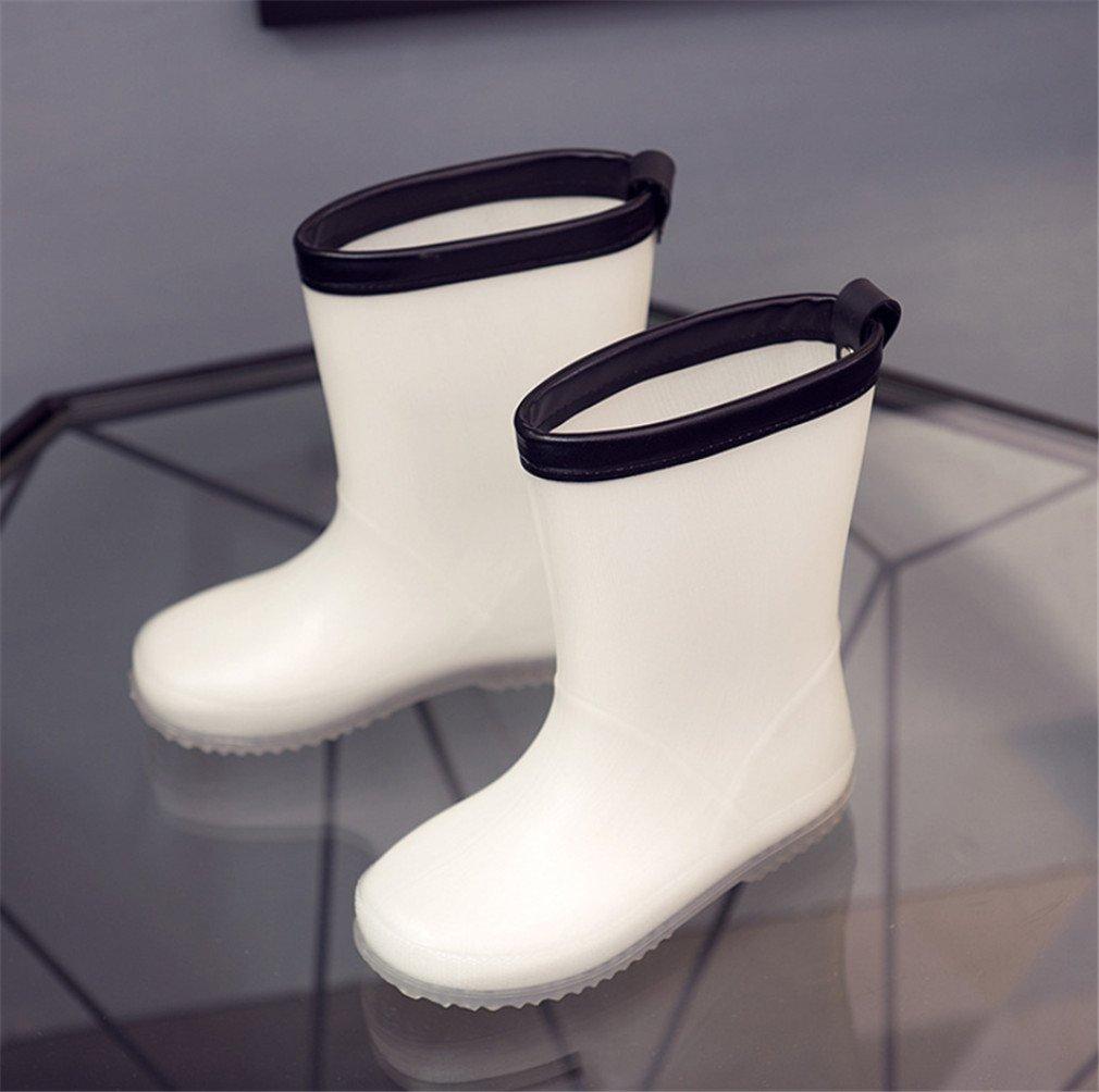 hot sale online 64e32 ac131 Weiß, Ungiftig LUCKY CLOVER-A Kinder Regen Stiefel Mädchen ...