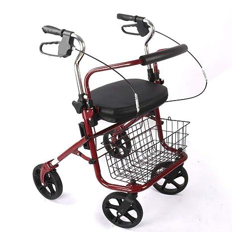 HYJ Andadores Ancianos Ligero, Plegable de Aluminio, con ...