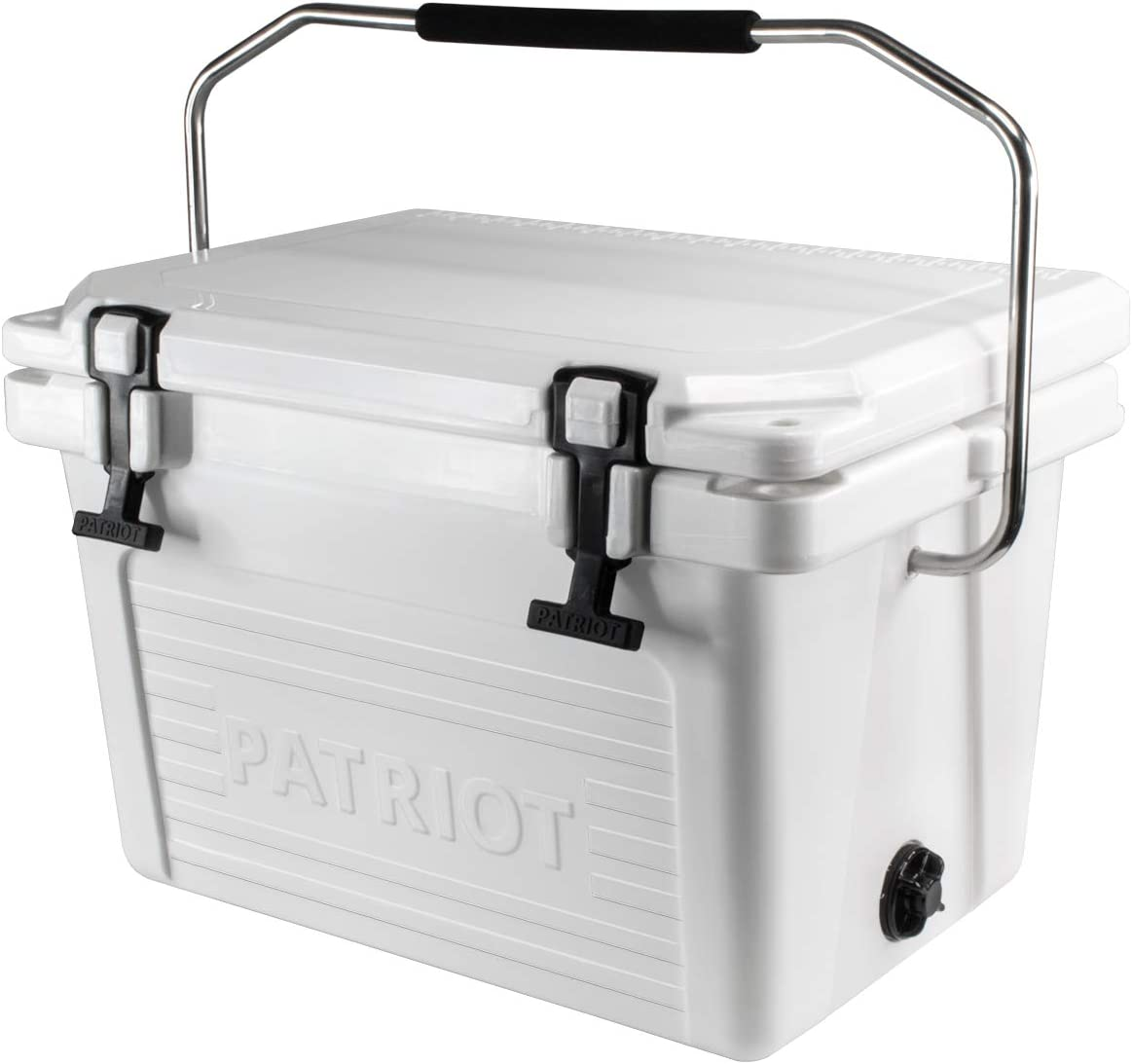 Patriot Heavy Duty 20QT Roto-Molded Cooler, with Steel Handle bar – Perfect for Fishing, Hunting, Construction Sites, Tailgating – Holds up to 24 Cans