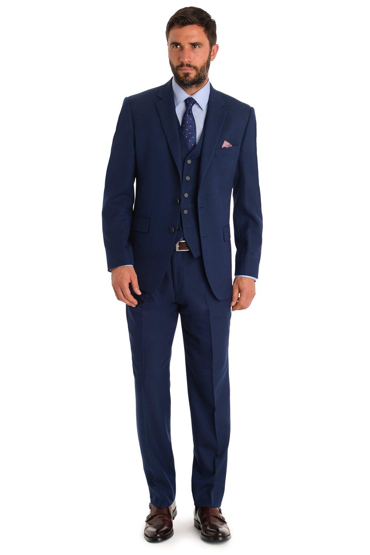Love Dress Regular Fit Striped 3-Piece Suit Blazer Tuxedo Vest & Trousers 5XL